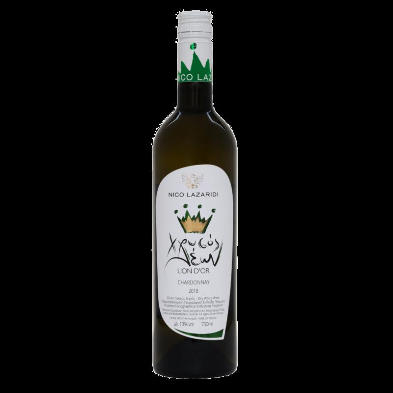 Χρυσός Λέων Chardonnay, 0.75lt, Λευκό, 2019