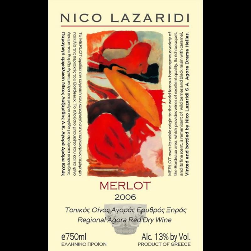 Merlot Nico Lazaridi 0.75lt, Ερυθρό, 2006