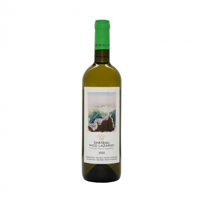 a bottle of Château Nico Lazaridi White 2020