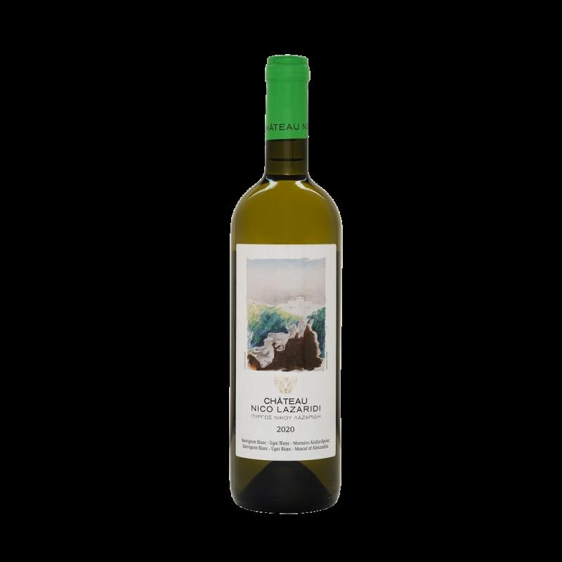 a bottle of Château Nico Lazaridi White 2020