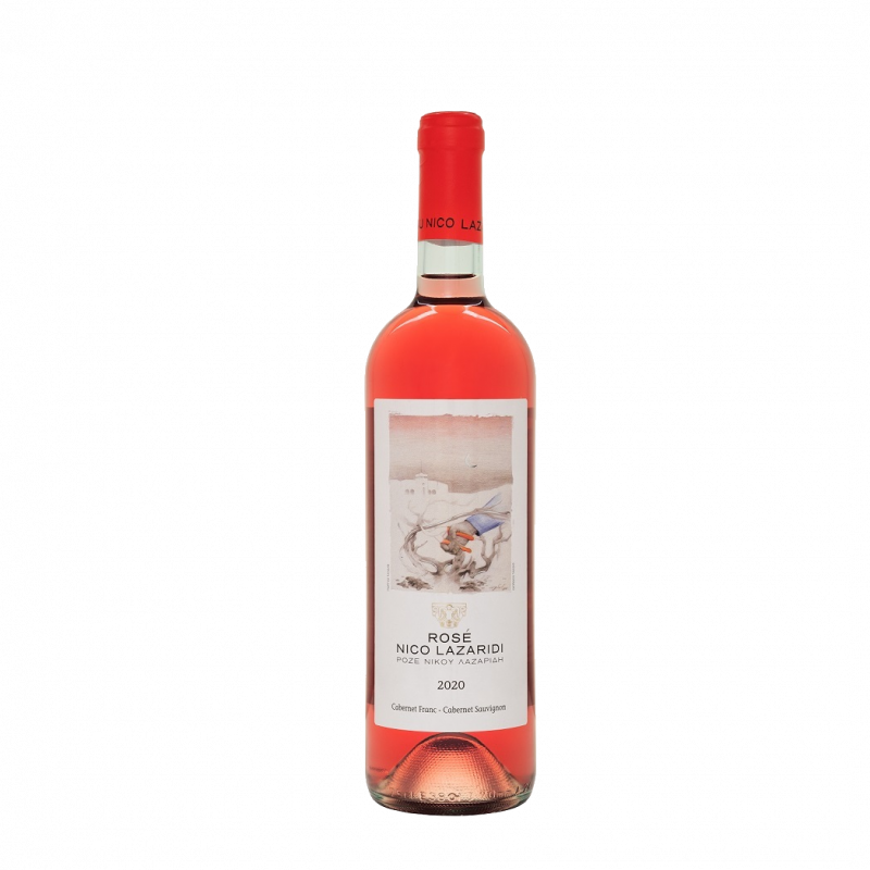 a bottle of Rose Nico Lazaridi 2020