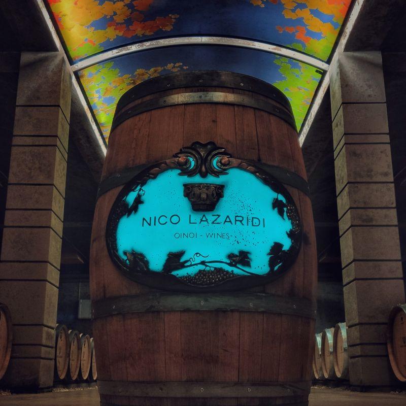 A NICO LAZARIDI wine barrel